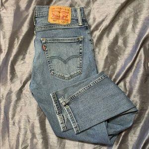 Levi's 512 light wash skinny jeans 29/30